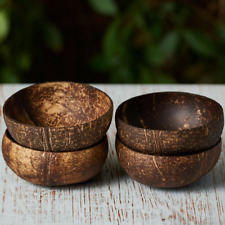 DIY (UNPOLISHED) COCONUT SHELL BOWL WITH EXTRA THICKNESS (DIAMETER 10+ cm)