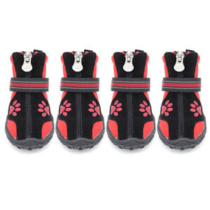 Waterproof Shoes for Large Dogs Reflective Paw Protector Anti-slip Doggie Boots