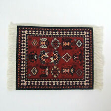 Dollhouse Small Red Oriental Rug Rubber Backed Coaster