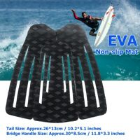 3Pcs Surfboard Traction Tail Mat Deck Grip Stomp Pad Paddleboard Surfing