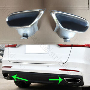 2x For Ford Mondeo Fusion 2013-18 Rear Bumper LH+RH Stainless steel Tail Throat