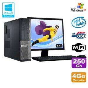 Lot PC DELL Optiplex 3010 DT G640 2.8Ghz 4Go 250Go DVD WIFI Win XP + Ecran 17