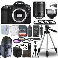 Canon EOS 90D Digital Camera + 18-135 USM Lens & TTL Flash 32GB Accessory Kit