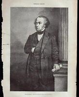 RICHARD COBDEN XILOGRAFIA DA LE MAGASIN PITTORESQUE 1868