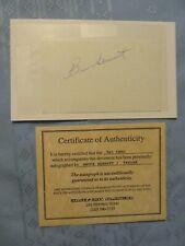 SIGNED ORIGINAL W/COA BRUCE BENNETT FROM TARZAN INDEX CARD