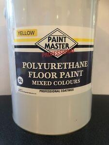 YELLOW POLYURETHANE GARAGE/WORKSHOP FLOOR PAINT 5 LT