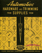 FORD RESTORATION PARTS MANUAL BOOK HARDWARE STANDARD TRIMMING SUPPLIES