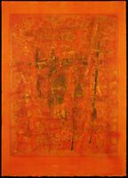 Kunst in der DDR. Mischtechnik Wolfgang E. BIEDERMANN (1940-2008 D) handsigniert