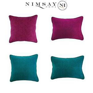 Luxury Chevron Weave Pattern Sofa Bed Cushion Cover Throw Pillow Cases Plum Teal