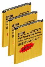 3x 2450mAh High Capacity Batteries - Samsung Galaxy Ace2, Duos, Exhibit, i8160