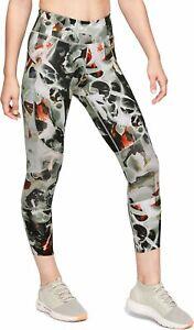 Under Armour Women Speedpocket Printed Run Crop Leggings Sport Size S