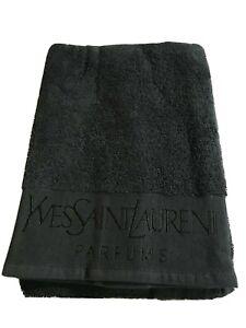 Yves Saint Laurent Parfums Black Hand Towel Cotton