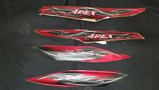 YAMAHA APEX STOCK OEM HOOD and PANEL DECALS , Fits 2011 to current apex sleds