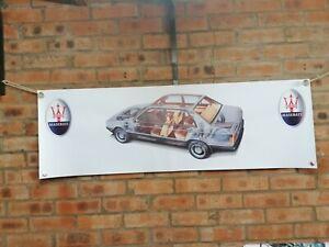 Maserati 420S  large pvc banner  garage  work shop car show