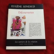 EUGENE IONESCO - DECOUVERTES - LES SENTIERS DE LA CREATION - ALBERT SKIRA