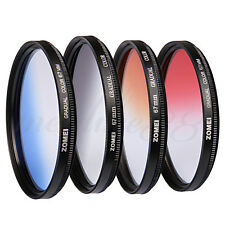Zomei 67mm Graduated Grey Blue Orange Red Lens Filter Kit for Canon Nikon Sony