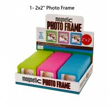 "Amp Magnetic 2""x2"" Photo Sleeves Insert Picture Reusable Holder Fridge Magnet"