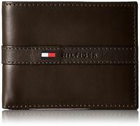 Tommy Hilfiger Men's Leather Credit Card Wallet Billfold Brown 5673-02