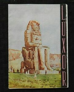 "c.1950 THE EGYPTIAN STATE TOURIST DEPARTMENT CAIRO EGYPT ""LUXOR"" TRAVEL BROCHURE"
