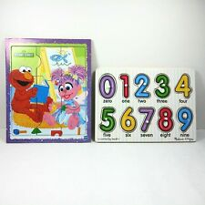 Melissa Doug Peg Puzzle Sesame Puzzle Street Elmo Abby Giant Wooden Puzzle