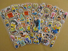 5 pieces Despicable-Me-Minions Fun Puffy 3D Cartoon Kids  Craft Stickers #5