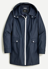 J. Crew New with Tag Navy Blue Rubberized raincoat size XS $148