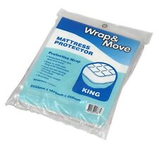 2x Wrap & Move King Mattress Protector Cover 2550x1850x350mm Clear *Aust Brand