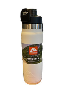 Ozark Trail Double-wall Vacuum Sealed Stainless Steel Water Bottle, BPAfree24 oz