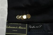 FORTNUM & MASON Made in Italy Men's 50C / 40S Navy w/ Gold Buttons Wool Blazer