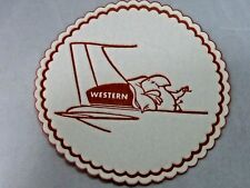 Western Airlines RARE  BRAND NEW FIRST CLASS COCKTAIL COASTER  NEW