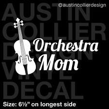 "6.5"" ORCHESTRA MOM vinyl decal car window laptop sticker - violin viola band"