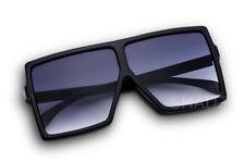 """XXL OVERSIZED """"BETTY"""" Lauren Women Sunglasses Aviator Flat Top Square Shadz"""