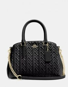 COACH Black Mini Sage Carryall With Quilting