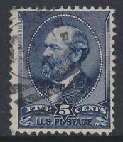 USA - 1887/8, 5c Indigo Tampon - D'Occasion - Sg 221 Ou