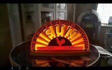 SUN record company illuminated table top display.