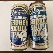 Steve Austin'S Broken Skull Ipa Cans (Empty) | El Segundo Brewing | 2020 & 2021