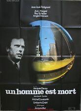 UN HOMME EST MORT Affiche Cinéma / Movie Poster Jacques Deray