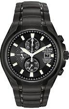 Citizen CA0265-59E Men's Eco Drive Black Titanium Black Dial Chronograph Watch
