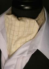 NEW Modern Day Textured Champagne Silk Ascot Cravat Tie Extra Long