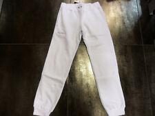 0580 AUSTRALIAN TG. 44 PANTALONI FELPATI FELPATO BIANCO WHITE PANTS /30