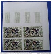 MADAGASCAR timbre aérien yvert et tellier n°85 non dentelés - Bloc de 4 - n**