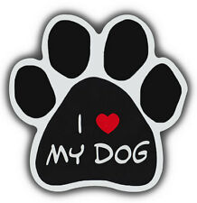 Dog Paw Shaped Magnets: I LOVE MY DOG | Cars, Trucks, Refrigerators