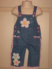 Infant Disney Winnie the Pooh Piglet Denim Overalls Soft Appliques 6 -9 Months