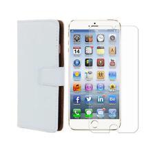 """Etui Portefeuille à Rabat Blanc + film de protection Apple iPhone 6 / 6S (4,7"""")"""