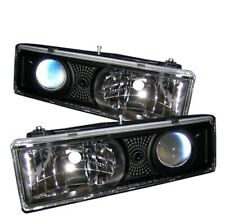 Spyder 5009289 Projector Headlights Black For 1995-1999 Chevrolet Tahoe 2pc NEW