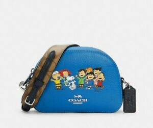 Coach X Peanuts Mini Serena Satchel With Snoopy And Friends 6490 NWT