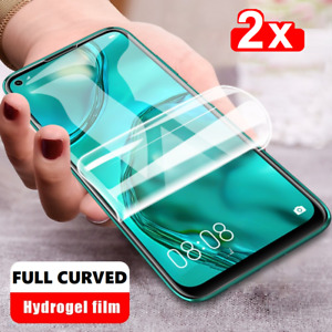 🚀2X HydroGel Display Screen Protector For APPLE SAMSUNG HUAWEI🚀💥FULL CURVED💥