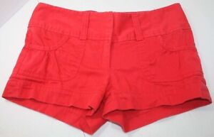 Charlotte Russe Womens Juniors Size 2 Red Shorts - Stretch Cotton