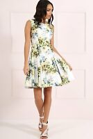 BRAND NEW Forever Unique Women's Shelby Green Floral Skater Dress (Size 8)