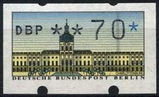 "Berlin 1987, 70pf ATM Machine Label MNH Error Flaw Through ""O"" #D72820"